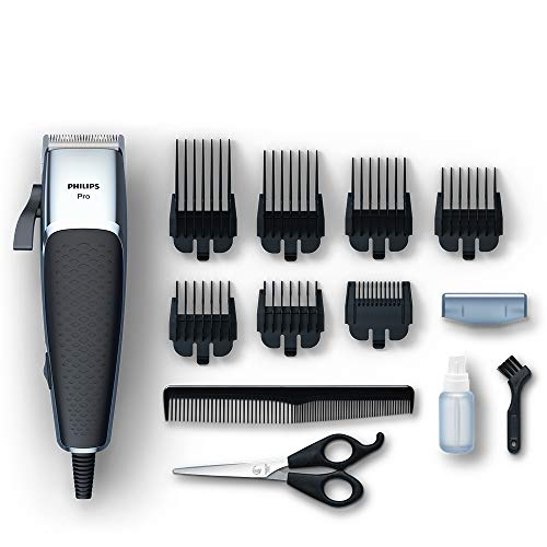 Philips Series 5000 Professional Hair & Beard Clipper, Durable, Linear Motor with Adjustable Blades and Close Precision – HC5100/13