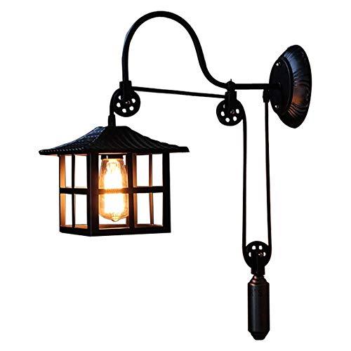 Creatieve telescoop Verstelbare metalen wandlamp Amerikaanse industrie flessenkabel wandlamp E27 Retro Loft wandlamp gang trap licht, D-B