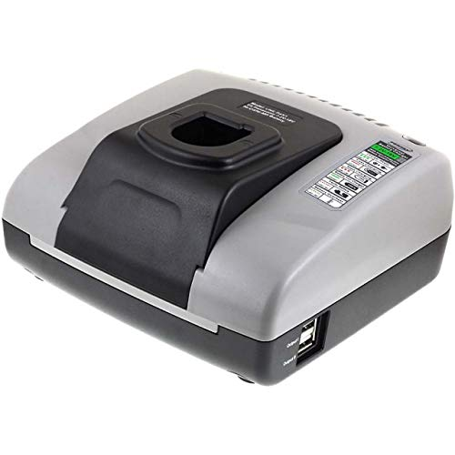 akku-net Lader met USB voor Panasonic Slagschroef-Boormachine EY6490GQKW, 7,2V-18V