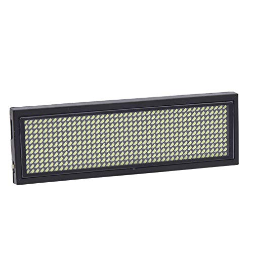 LED Tag scrolling Sign programmeerbaar, 180 mAh badge magnetische deur met magneet met Micro USB oplaadbaar, Display HD, zeer lichtblauw/geel/wit White)