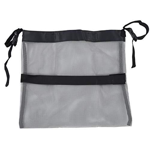 Shipenophy Bolso de almacenamiento ligero del bolso de malla del cochecito Gris Multifunción para al aire libre (gris)