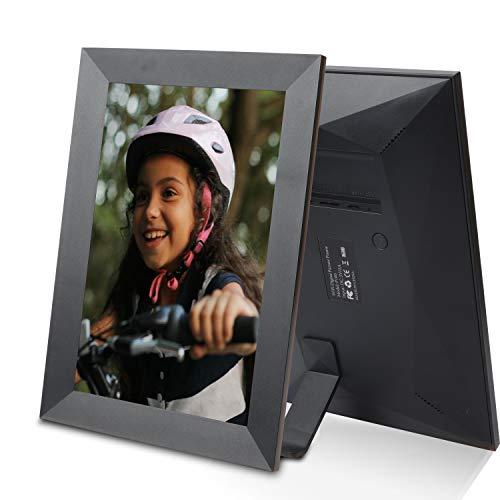 EMISH Marco de fotos digital WiFi de 10 pulgadas con pantalla táctil IPS HD de 800 x 1280, comparte fotos y vídeos desde tu teléfono al marco de fotos inteligente con la aplicación Frameo desde cualquier lugar
