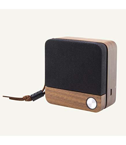 BigBuy Tech Altavoz Bluetooth Inalámbrico Eco Speak 400 Mah 3.5w Madera