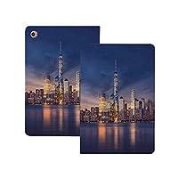 """iPad Pro 11"""" 第2世代 2020 (A2228 A2231) 都市景観、川、ネイビーゴールドのスカイライン反射とサンセットビュー画像後のニューヨーク市マンハッタン 都市景観 [Apple Pencil 2 ワイヤレス充電対応] 軽量 き イッピー りスマートケース iPad Pro 11インチ 2020用ハード背面カバー ネイビーゴールドのスカイライン反射とサンセットビュー画像後のニ"""