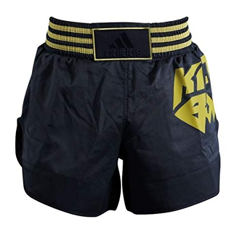 adidas Pantaloni Kickboxing Micro Diamante Nero/Oro Taglia XXS