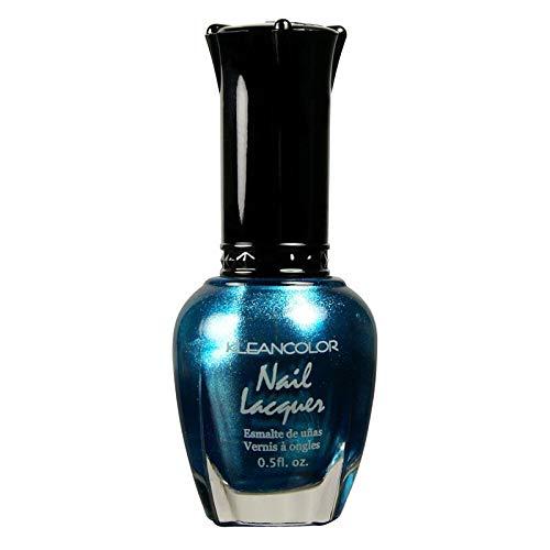 Kleancolor Nail Lacquer Metallic Finish Nail Polish (Metallic Aqua, Single)