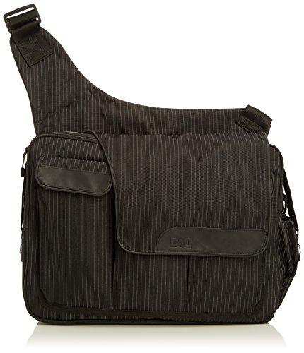 Diaper Dude pinstripe messenger II bag, schwarz