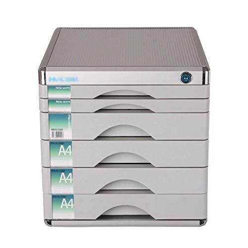 Aktemap met schuiflade, multifunctionele schuifladen, bureau, opslag, hoge weerstand, botsing, standaard, aluminium (30 x 36 x 30,5 cm)