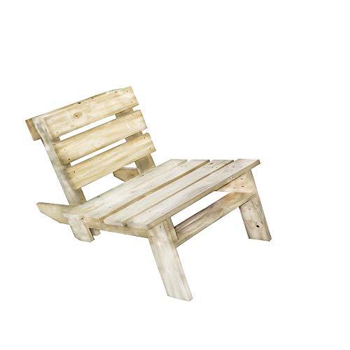 T.E.M. Mobiliario Jardín Sedia a Sdraio reclinabile in Legno | Sedia a Sdraio da Giardino in Legno di Pino