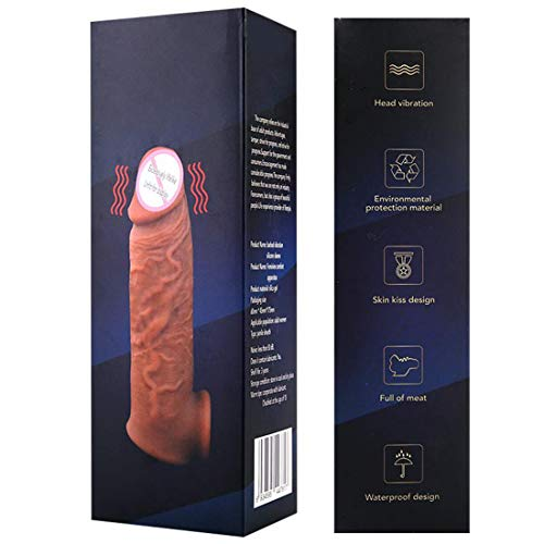 MäNner Langlebiges Realistisches Silikonkondom FüR Die Haut Realistische Linien Und Erweiterbare Dual-Port-Kondome Wiederverwendbar