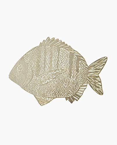 Wqyiuan - Alfombrilla de resina con diseño creativo de peces