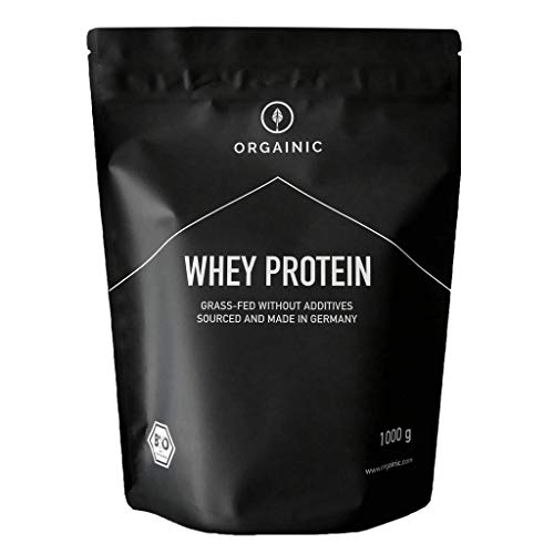 ORGAINIC Bio Kakao Whey Protein - Bio Zertifiziert ohne Zusatzstoffe - Eiweißpulver aus Deutschland - Grasfütterung - 1000g