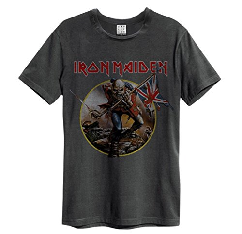 Camiseta Amplified oficial, unisex, con diseño de la canción The Trooper del...