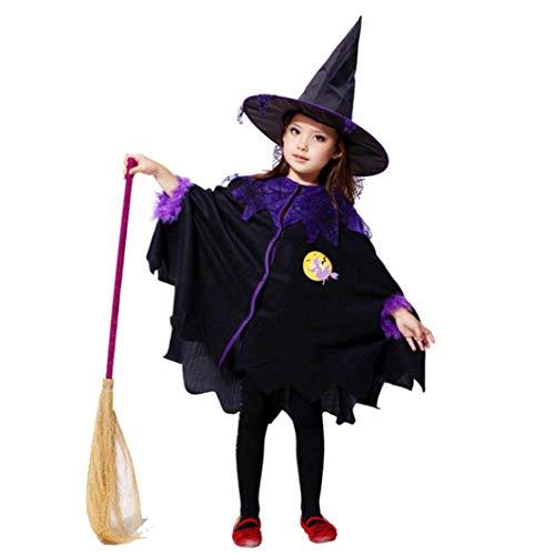 Homebaby - Bambino Strega Costume Mantello Tutu + Cappello Outfit Completi Bambini Ragazze Costume Di Halloween Abbigliamento Costume Partito Vestito Tuta Regalo