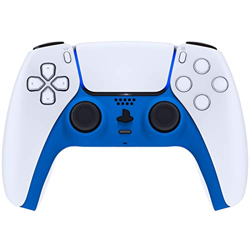 eXtremeRate Blue Decorative Trim Shell for DualSense 5 Controller, Soft Touch DIY Replacement Clip...