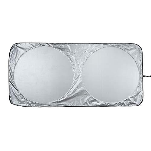 AmazonBasics - Parasole per parabrezza anteriore, pieghevole, riflettente, protezione dai raggi UV, 160 cm x 79 cm, 0,1 mm di spessore