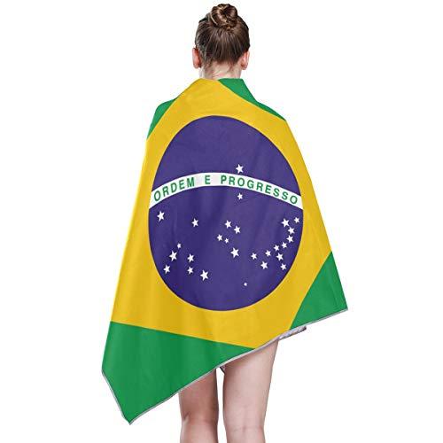 FANTAZIO Flagge Brasiliens Farbecht Badetuch Schnelltrocknend Badetuch Gym Handtücher