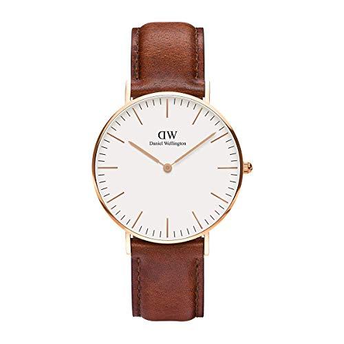 Daniel Wellington Classic St Mawes, Reloj Marrón/Oro Rosado, 36mm, Cuero, para Mujer y Hombre
