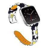 Valchinova Compatible with Fitbit Versa Strap for Women Leather Versa Lite Bracelet Galaxy Gear S3 Classic Watchband Amazfit 2 Stratos Band Replacement Watch Urbane Wristband Zenwatch 1 Gen (Multi)