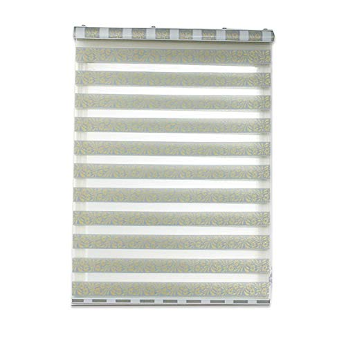 JIAGU Roller Blind Bathroom Waterproof Roll-up Double-layer Soft Gauze Curtain Bedroom Light Blocking Free Perforated Blinds Multifunctional Blinds (Color : Green, Size : 130x150cm)