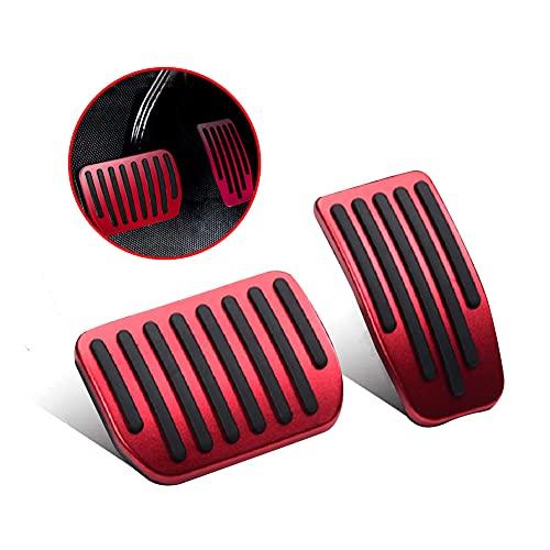 YIXISI Pedaliera Auto Compatibile con Tesla Model 3, Acciaio Inox Poggiapiedi Pedale Automatico per Acceleratore e Freno, Rosso
