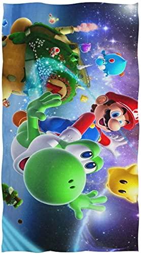 Mario Bros Mario Bros - Toalla de playa para verano, para la piscina, para niños, para deportes (3,90 x 180 cm)