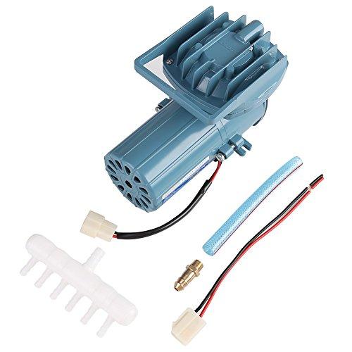 Fdit Aérateur de Pompe à Air pour l'étang de Poissons Aquaculture Aquarium Accessoire Outil Fournitures d'Oxygène DC 12V 35W