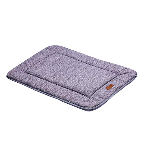 QIAOQI Dog Bed Kennel Pad Crate Mat Washable Orthopedic Antislip Beds Dense Memory Foam Cushion Padding Bolster   Perfect Sleep Bedding Pads for Carrier Cage