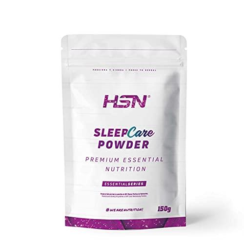 Sleep Care Powder de HSN | Polvo Infusiones Relajantes para Dormir | Calmante Natural 100% Natural | Triptofano + Melatonina + Magnesio + 5-HTP + Glicina + Teanina + GABA | Sabor a Té | 150 gr