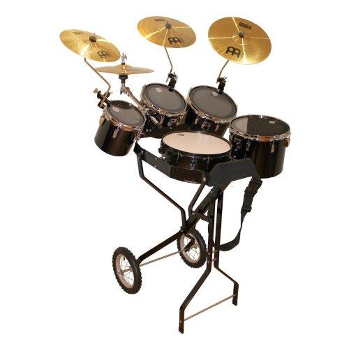 Schlagzeugwagen mit Snare, 4 Toms, 1 Hi-Hat, 3 Becken