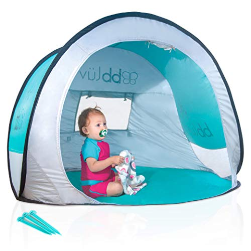 bblüv - Sunkitö - Pop Up Play Tent and Canopy Sun Shelter with SPF 50 + Mosquito Net, Perfect for Infant at The Beach, Park, Camping or Playroom, Folds Flat for Easy Travel, Carry Bag Included