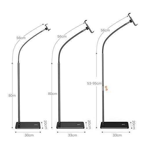 QIDI Lazy Phone Holder IPad Tablet Computer Pad Floor Support Stand Desktop Versatile Home Bedside Clip 30 cm Long20 cm Wide (Color : Long 33 cm20 cm Wide)