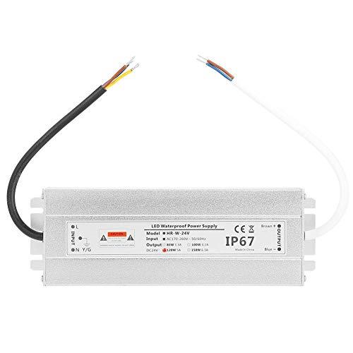 Premium Alimentatore MeanWell - Trasformatore AC/DC 24V 120W 5A IP67 Impermeabile LED a Bassa Tensione Trasformatore [Classe di efficienza energetica A+++]