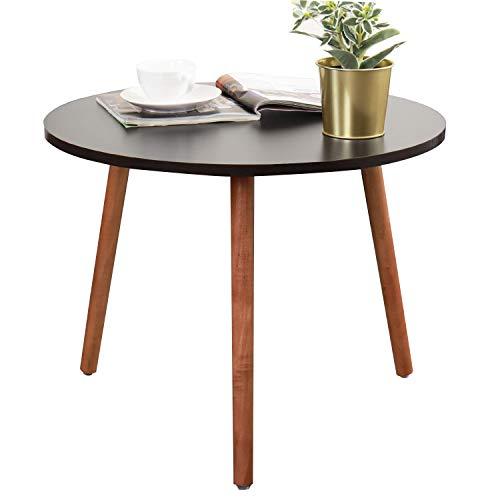 sogesfurniture Beistelltisch Satztisch rund Couchtisch Sofatisch Kaffeetisch Telefontisch Holz, perfekt für Esszimmer, Küche, Wohnzimmer, 55 cm Durchmesser, Schwarz CJ013-BK-BH