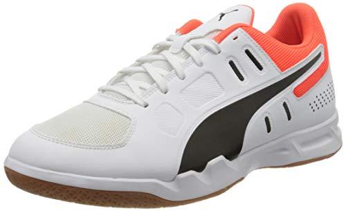 Puma Auriz, Herren Fußballschuhe, Weiß (Puma White-Puma Black-NRGY Red-Gum 05), 45 EU