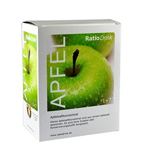 RatioDrink Apfel-Saft-Konzentrat, 3 Liter, Klar, 1+7, Im Karton, Ohne Zusätze Und Konservierungsstoffe, Zur Herstellung Von 24 Litern Klarem Apfelsaft