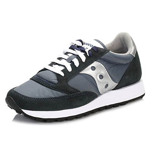 Saucony Men's Jazz Original, Navy/Silver, 9.5 M US