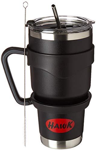 Hawk Insulated coffee mug with lid,straw and brush