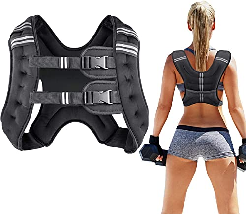 Prodigen Running Weight Vest for Men Women Kids 12 Lbs Weights Included, Body Weight Vests for Training Workout, Jogging, Cardio, Walking Elite Adjustable Weighted Vest Workout Equipment-Black,12lbs