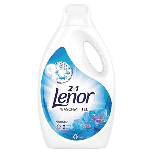 Lenor Waschmittel Flüssig, Flüssigwaschmittel, Lenor Aprilfrisch mit Duft von Frühlingsblumen, 100 Waschladungen (5.5 L)