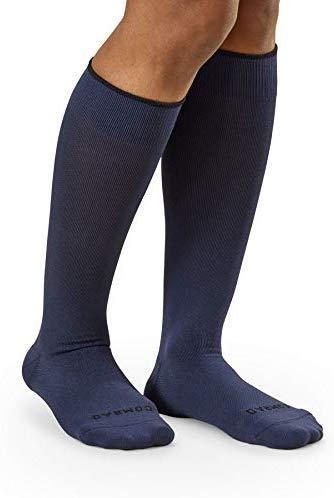COMRAD   Premium and Stylish Compression Socks for Multipurpose Wear (Marine Blue, Medium)