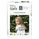 foto Eco by Naty Pañales, Talla/Tamaño 6, 102 unidades, +16 kg, suministro para UN MES, Pañal ecológico Premium hecho a base de fibras vegetales. 0% plásticos derivados del petróleo en contacto con la piel
