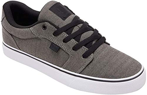 DC Men's Anvil TX Skate Shoe, grey/black/grey2017, 10 Medium US