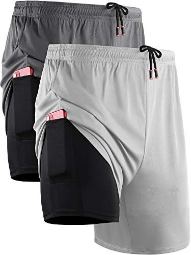 men shorts with liner - 6