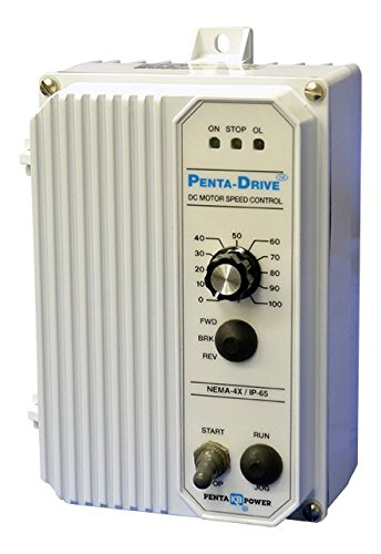KB Electronics, 8402, KBPW-240D (White), 0-90/0-130/0-180VDC, 1/2 HP, Nema 4X, DC Drive