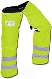 Forester Protective Trimmer Safety Chaps, Safety Green, Large