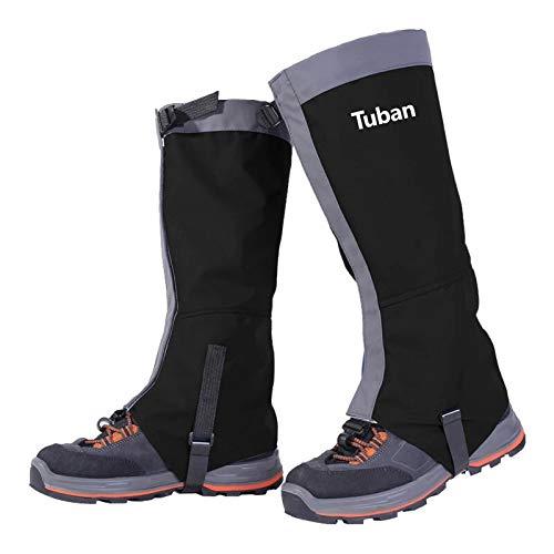 NEVRTP wasserdichte Skischuhe Gamaschen, reißfester Schuhschlauch für Männer und Frauen beim Wandern im Freien, Skifahren, Schneeschuhe, Verstellbarer Camping-Wanderschuh (M, schwarz)
