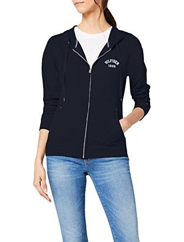 Tommy Hilfiger Zip Thru Hoody Sweat-Shirt àCapuche, Bleu (Navy Blazer-PT), 42(Taille du Fabricant: Large) Femme