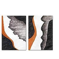 Ipea 現代の抽象的な形の絵画北欧のポスターキャンバスプリントリビングルームの装飾のためのミニマリストの壁の芸術の写真-50X70Cmx2個のフレームなし