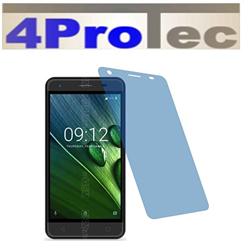 4ProTec I 2X Crystal Clear klar Schutzfolie für Acer Liquid Z6E Duo Premium Bildschirmschutzfolie Displayschutzfolie Schutzhülle Bildschirmschutz Bildschirmfolie Folie